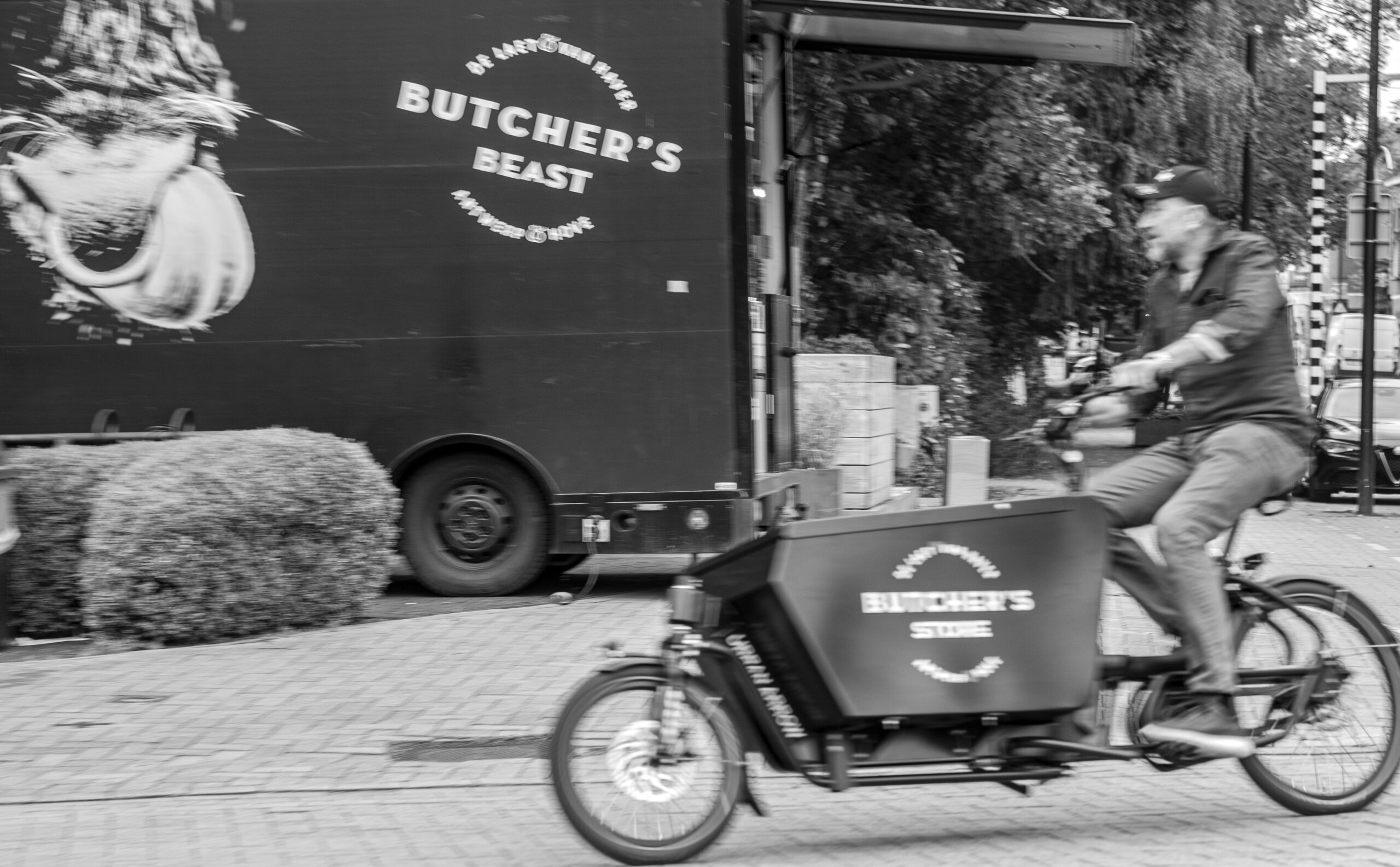 Butcher's Bikes, cargo bikes for home delivery of the finest meat and cutleries